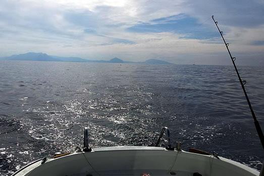 navigando al largo di San Vito Lo Capo